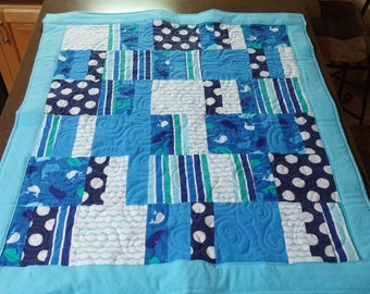 Baby Quilt, Machine pieced and quilting