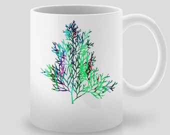 Tree Branch Print Art Ceramic Mug