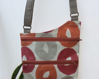 PVC crossbody bag with adjustable strap