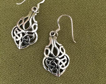 sterling silver earrings, Celtic Knot