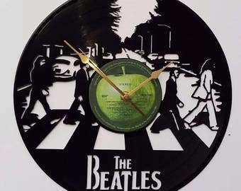 The Beatles abbey road Record clock, vintage record, classic Iconic legend legendary cover, retro wall clock, old school pop rock