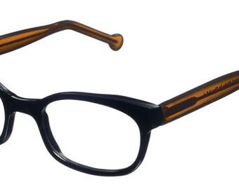 New black/brown color plastic eyeglasses full rim