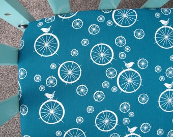 Crib Sheets - Teal Birds on Spokes - Crib Bedding - Fitted Crib Sheets - Baby Bedding Nature Inspired - Baby Boy - Girl - Gender Neutral