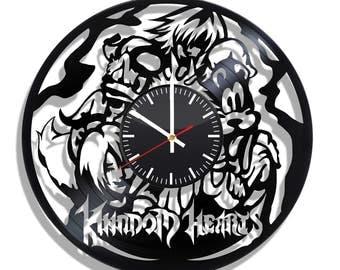 Wall clock with original design Kingdom Hearts