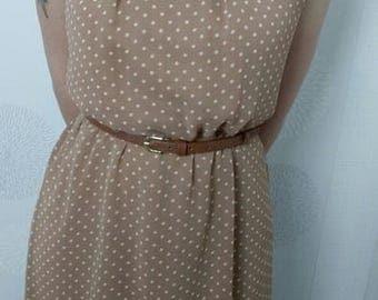 Dress vintage 1960 s to design small peas, size 38 - Bohemia/Vintage/romantic