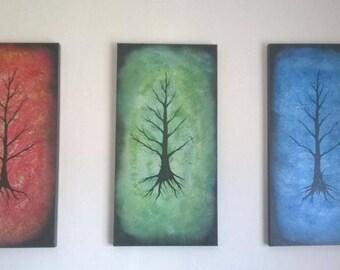 Hand-made tree painting set