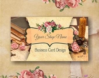 Business card design, print ready visit card design, pre-made vintage  business card design
