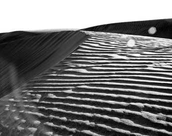 Sand Dune Blues - Landscape Photography - Black and White - Mexico