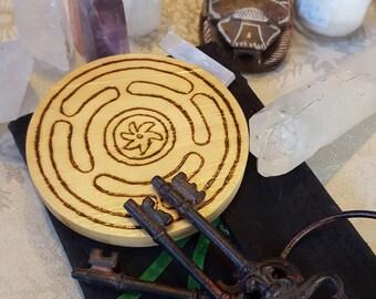 Hecate Wheel Altar Tile