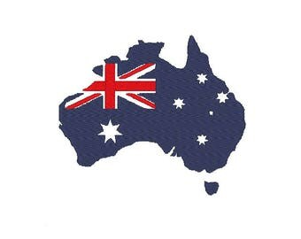 australia flag Embroidery file Digital embroidery files Machine embroidery