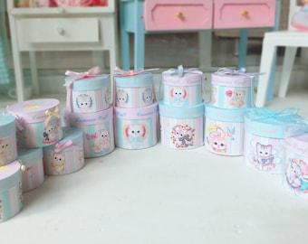 1:6 Dollhouse Miniature Boxes - Animals Gift Boxes - Miniature Dollhouse Hat Boxes