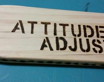 "Wooden Spanking Paddle-""Attitude Adjuster"""