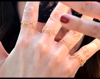 Your twisted ring personalized goldfilled 18 carats