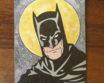 Hand drawn Batman sketch card