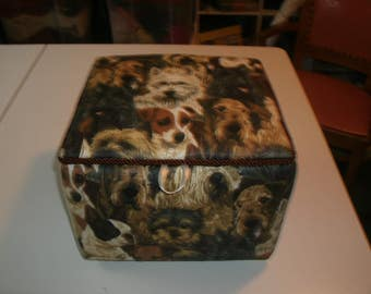 Small Dogs Fabric Box