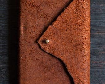 A6 Leather Journal - Kangaroo Leather (Chocolate Brown Suede)