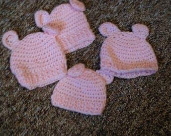 Hand Crocheted, Baby bear hat