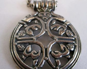 Viking Necklace in silver-Beautiful necklace with Viking motif-Scandinavian Necklace