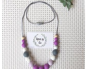Vivid Violet ~ silicone teething necklace