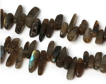 Batch of pearls Labradorite sticks 10-30mm