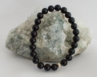 Pearl black Obsidian bracelet