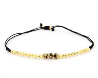 Bracelet 3 Gold Zircons with pearls Classymo