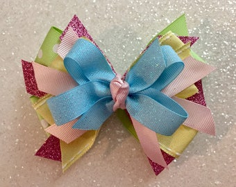 """Pastel 5"""" Bow with Gator Clip"""