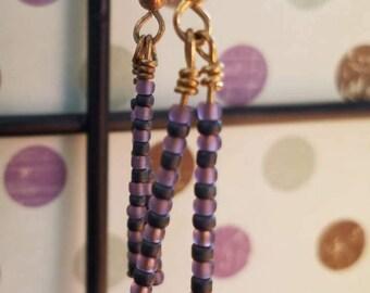 Plum (Handmade Earrings)