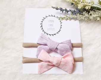 Pastel Party Set of Two Hand Tied Bows