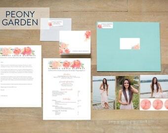Custom Sorority Recruitment Packet - Peony Garden