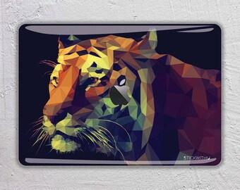 Tiger macbook skin animal macbook decal macbook sticker abstract art macbook cover painting macbook pro skin macbook air 13  FSM190