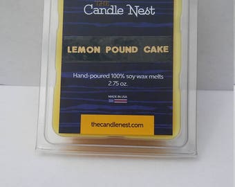 100% Natural Soy Wax, Lemon Pound Cake Scented Melts
