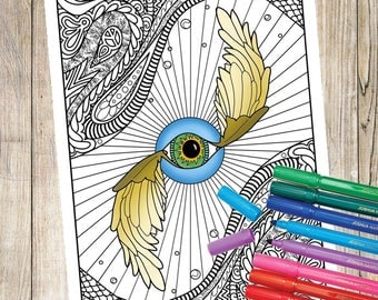 Groovy Abstract Coloring Page