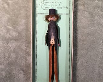 Vintage International Art Publishing Clothespin Doll Articulated Valentine