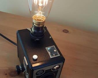 Vintage Kodak Brownie Six-20 Model D camera lamp