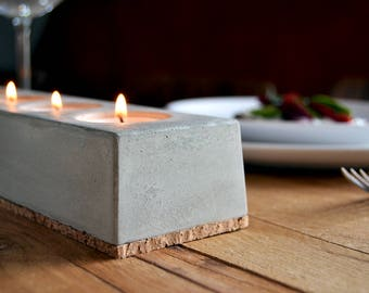 Candle holders, tea light holders, concrete