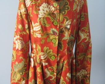 Floral Peplum Jacket