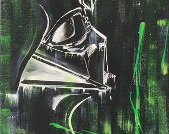 Special 50% value of 200.00 Vader, acrylic, original paint, 16 x 20 in