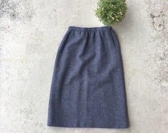 Vintage Wool Pocket Skirt