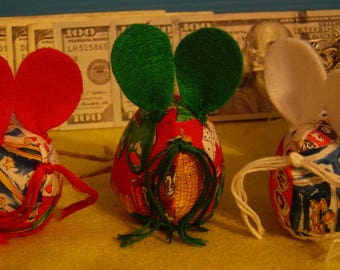 Lucky Three Blind Mice- Handcrafted Ornaments Bingo Gaming