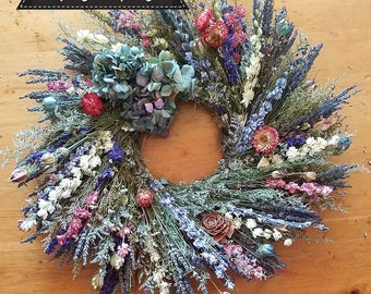 Spring Has Sprung, lavender wreath, spring wreath, indoor wreath, lavender