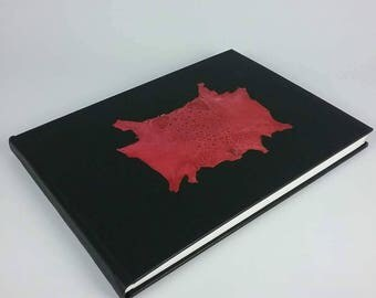 Handcrafted A4 unique OOAK hand bound book with buckram bindings Australian Made