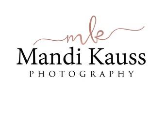 Premade logo-Business logo-Rose gold logo-Photography logo