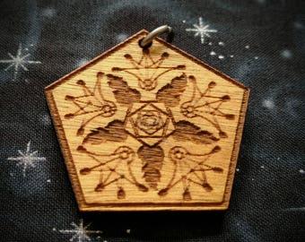 Flow Arts Fan Talisman / Amulet / Sacred Geometry Pendant