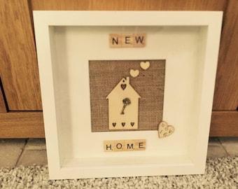 Handmade Scrabble New Home Box Frame