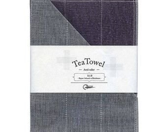 Nawrap R.I.B. Tea Towel, Purple x Charcoal, Naturally Antibacterial