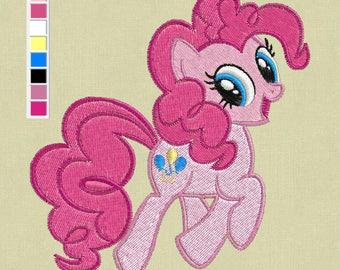 Embroidery design My Little Pony Pinkie Pie 4x4 hoop