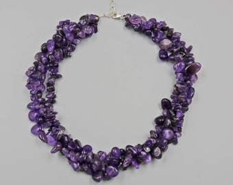 """18.5"""" Genuine Amethyst necklace with 1.5"""" extender"""