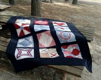 Fabric scraps blanket