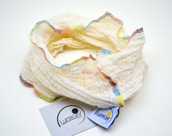 Loop beautiful scarf beige cream, nature, baby, child, girl, boy, unisex, summer 6-18 months, organic cotton, spring